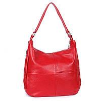 Кожаная сумка модель 14 красный флотар, фото 1