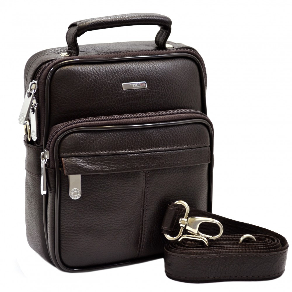 Мужская кожаная сумка барсетка Кarya