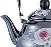 Эмалированный чайник с подвижной ручкой Benson BN-102 черный с рисунком (2 л), фото 2