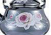 Эмалированный чайник с подвижной ручкой Benson BN-103 черный с рисунком (2.5 л), фото 4