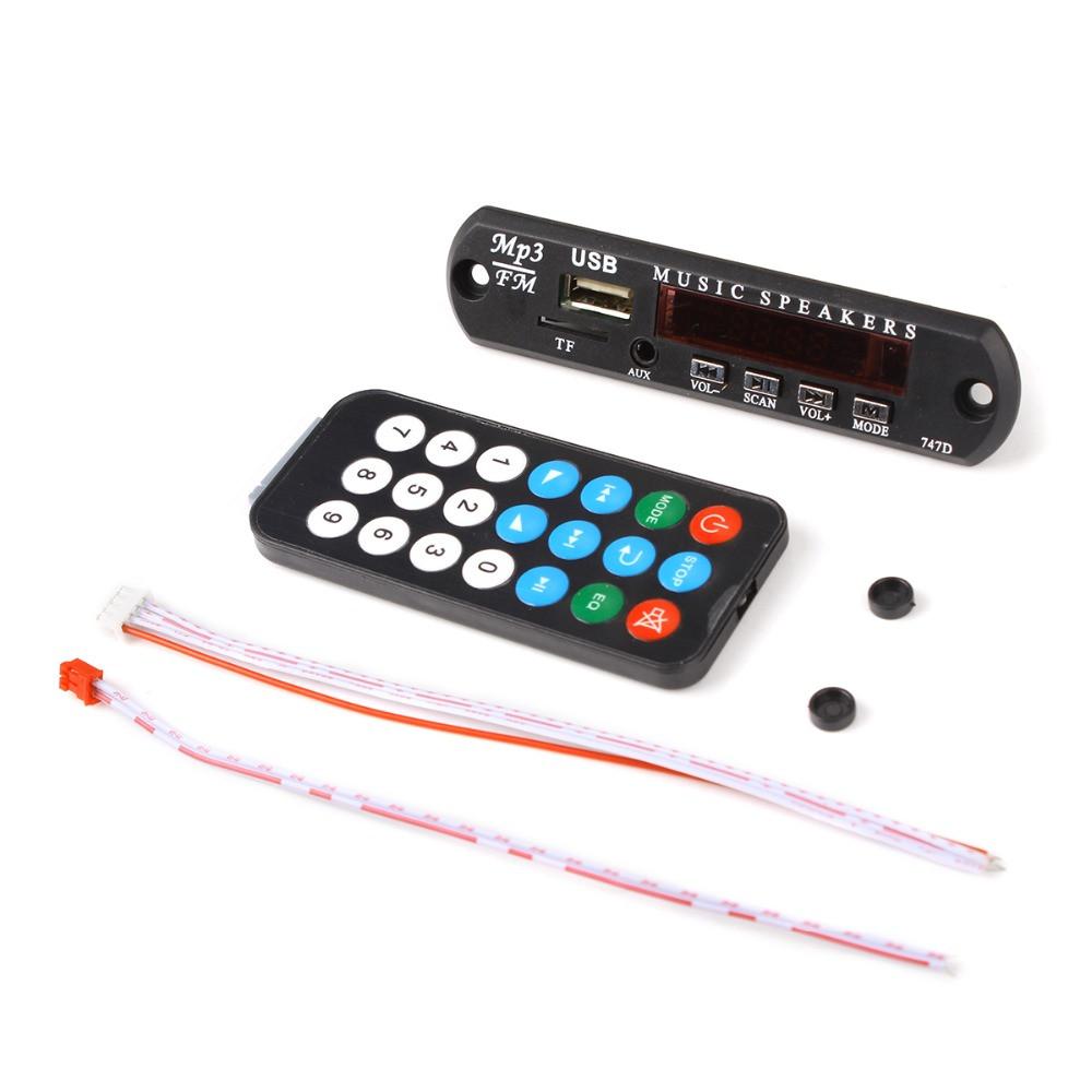 Встраиваемый MP3 плеер, FM модуль USB microSD, 12В