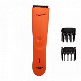 Тример ROZIA Clipper HQ-206 червоний | машинка для стрижки волосся | бритва чоловіча з насадками - Komorka в Києві