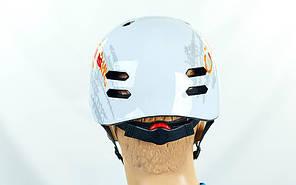 Шлем для экстремального спорта Zelart MTV18-1 (ABS, р-р L-55-61, белый), фото 3