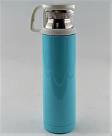 Вакуумный термос из нержавеющей стали BENSON BN-46 Голубой (350 мл) | термочашка, фото 1