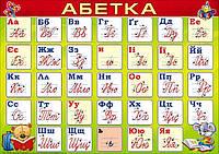 """НП Плакат (школа) """"Світ Поздоровлень А3""""/абетка"""