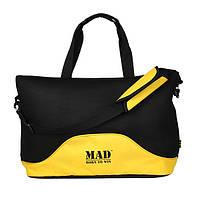 Стильная и современная женская спортивная сумка для фитнеса LATTICE желтого цвета от MAD | born to win