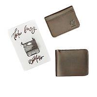 Подарочный набор кожаных аксессуаров BlankNote Орех Бангкок (портмоне + визитница) BN-set-access-3 коричневый