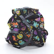 Рюкзак Y005 №1 черный (цветные слоны), фото 3