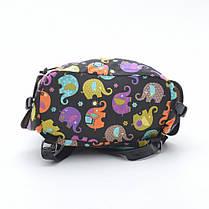 Рюкзак Y005 №1 черный (цветные слоны), фото 2