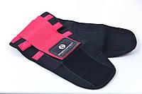 Пояс-корсет для поддержки спины ONHILLSPORT (черно-малиновый) L (80-90 см)