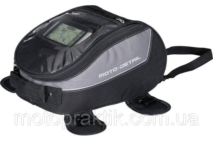 MOTO-DETAIL TANK BAG BLACK/GRAY Мотосумка на бак магнитная