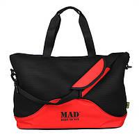Стильная и современная женская спортивная сумка для фитнеса LATTICE красного цвета от MAD | born to win