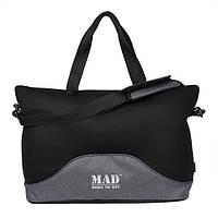 Стильная и современная женская спортивная сумка для фитнеса LATTICE серый меланж от MAD | born to win™