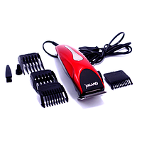 Профессиональная машинка - триммер для стрижки волос Gemei GM-1025 4 в 1 красная, фото 1