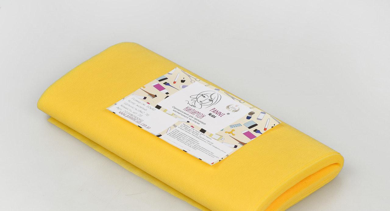 Коврик для косметических процедур Panni Mlada 30х40 см (20 шт/пач) из спанбонда 70 г/м² 200 ШТ 10 УП Желтый