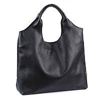 Кожаная сумка модель 15 черный флотар, фото 1