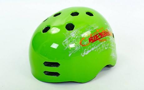 Шлем для экстремального спорта Zelart MTV18-3 (ABS, р-р M-L-55-61, зеленый)