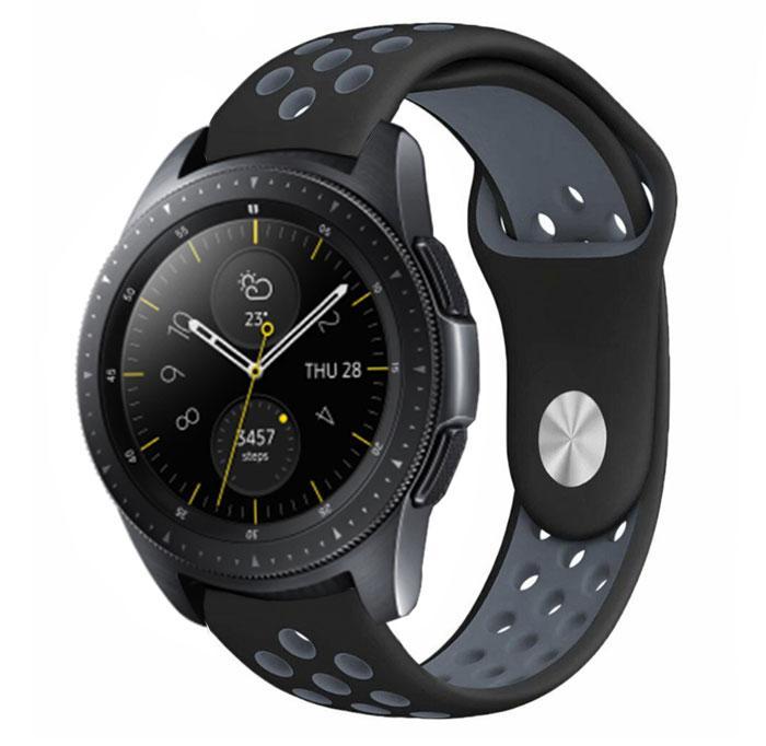 Спортивный ремешок Primo Perfor Sport для часов Samsung Galaxy Watch 42 mm (SM-R810) - Black&Grey