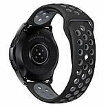 Спортивный ремешок Primo Perfor Sport для часов Samsung Galaxy Watch 42 mm (SM-R810) - Black&Grey, фото 2