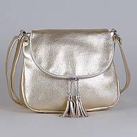 Кожаная сумка модель 19 золотой флотар, фото 1