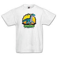 """Футболка детская с динозавром  """"Велоцираптор"""""""