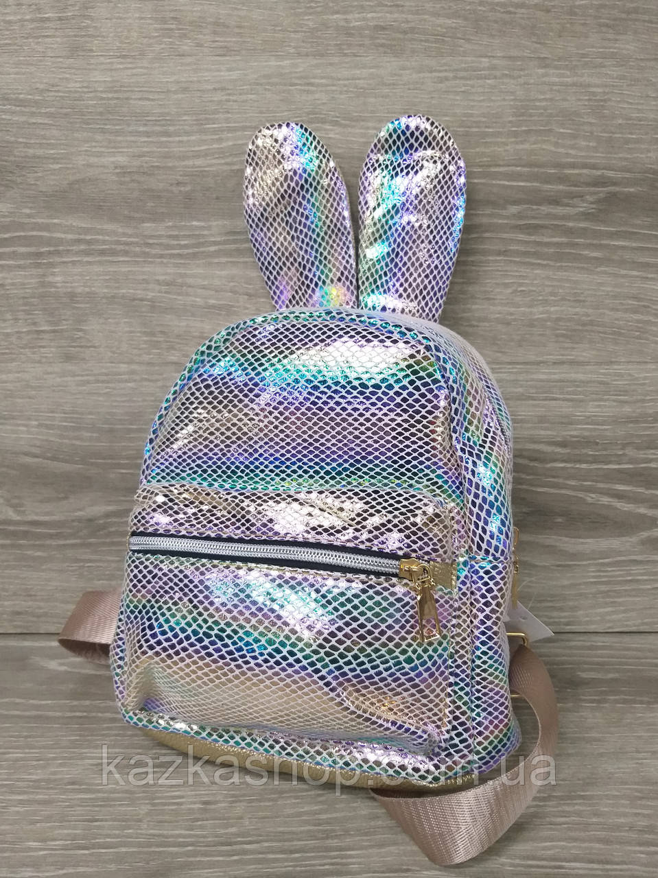 Детский рюкзак с ушками из искусственной кожи и лазерной обработкой, производство Китай