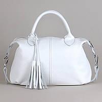 Кожаная сумка модель 20 белый флотар, фото 1