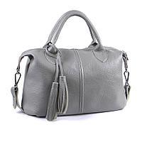 Кожаная сумка модель 20 серый флотар, фото 1