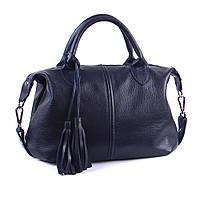 Кожаная сумка модель 20 синий флотар, фото 1