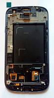 Samsung Galaxy S3 GT-i9300 дисплей LCD + тачскрін з рамкою сенсор синій