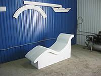 Лежак анатомический с подогревом с отделкой для хамама