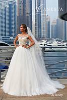 Красивое свадебное платье 42-44 размер Италия