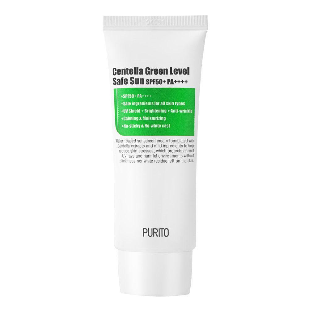 Солнцезащитный крем с центеллойPurito Centella Green Level Safe Sun SPF50+ PA++++ Корейская косметика