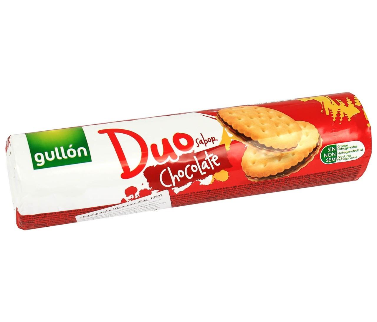 Печиво GULLON Duo Sandwich біле з шоколадним кремом, 250г, 18шт/ящ