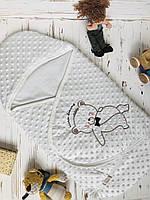 Детский демисезонный конверт на выписку светлый Турция