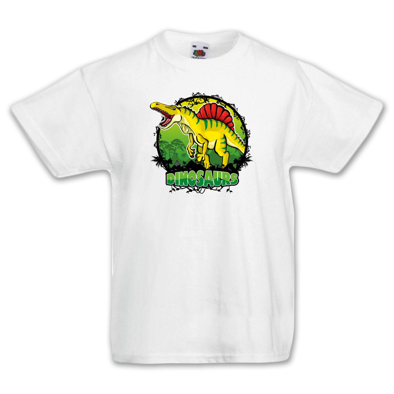 """Футболка детская с динозаврвми  """"Жёлтый Спинозавр"""""""