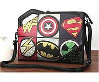 "Чоловіча сумка-клатч з заклепками ""Marvel"", фото 1"