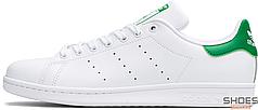 Женские кроссовки Adidas Stan Smith ftwr white/core white/green M20324, Адидас Стен Смит