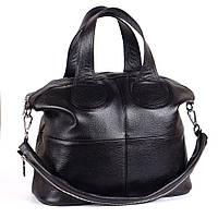 Кожаная сумка модель 22 черный флотар, фото 1