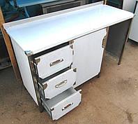 Стол из нержавейки с ящиками