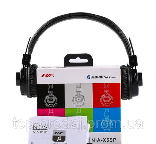Наушники MDR NIA X5SP BT 2 in1 наушники + калонка, Накладные наушники, Bluetooth наушники с динамиком