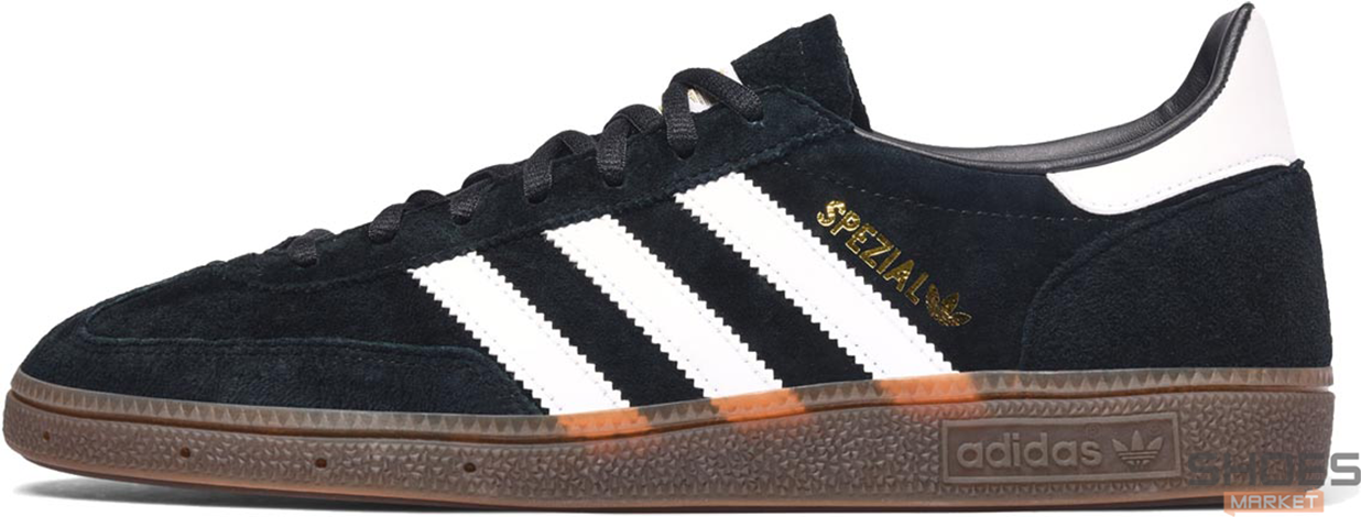 Мужские кроссовки Adidas Handball Spezial Core Black/Cloud White/Gum DB3021, Адидас Специал