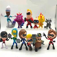 Фигурки героев фильма Суперсемейка 12 штук