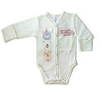 Боди для новорожденных Veres Beary much beige интерлок молочный