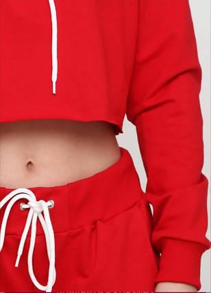 Костюм спортивний жіночий, червоний модний молодіжний, фото 2