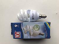 Энергосберегающая лампа КЛС 9 Ват Е14 Вольта Volta ПК 4000К