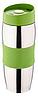 Термокружка металлическая с поилкой Benson BN-40 зеленая (380 мл) | термостакан из нержавеющей стали | термочашка