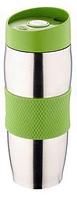 Термокружка металлическая с поилкой Benson BN-40 зеленая (380 мл) | термостакан из нержавеющей стали | термочашка, фото 1