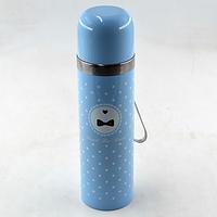 Вакуумный детский металлический термос BENSON BN-56 голубой (350 мл) | термочашка