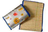 Пляжный коврик - сумка из бамбука 120*170 см | пляжная подстилка | коврик для пикника | коврик для моря , фото 1